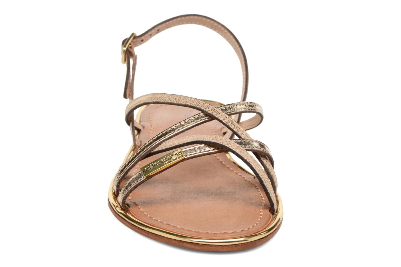 Sandales et nu-pieds Les Tropéziennes par M Belarbi Belle Or et bronze vue portées chaussures