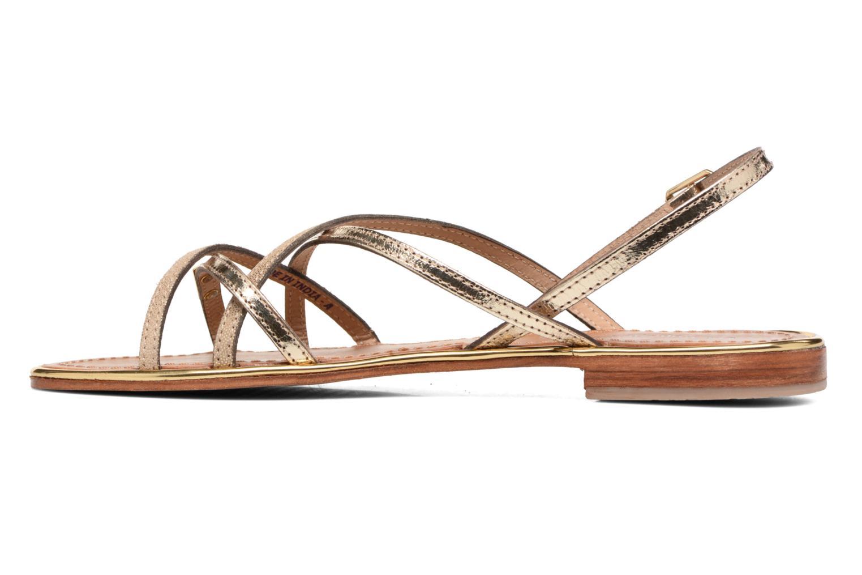 Sandales et nu-pieds Les Tropéziennes par M Belarbi Belle Or et bronze vue face