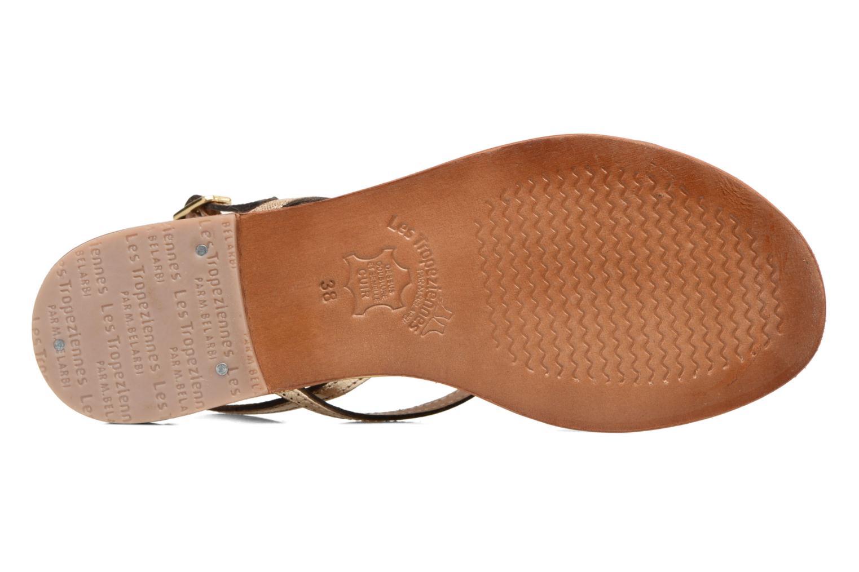 Sandales et nu-pieds Les Tropéziennes par M Belarbi Belle Or et bronze vue haut