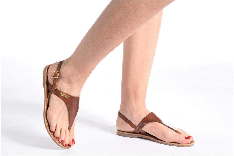 Sandales et nu-pieds Les Tropéziennes par M Belarbi Baccara Or et bronze vue bas / vue portée sac