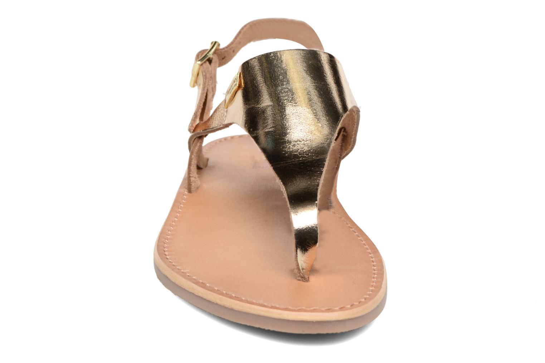 Sandales et nu-pieds Les Tropéziennes par M Belarbi Baccara Or et bronze vue portées chaussures