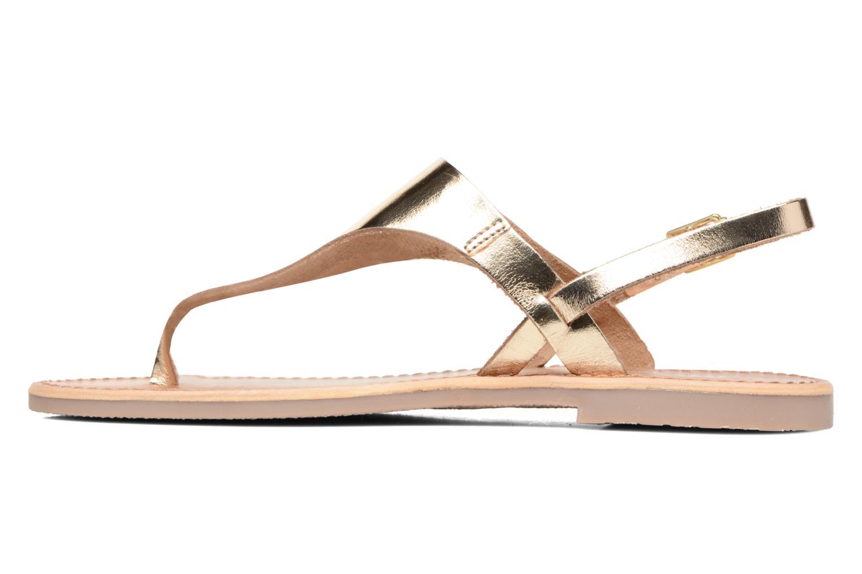 Sandales et nu-pieds Les Tropéziennes par M Belarbi Baccara Or et bronze vue face