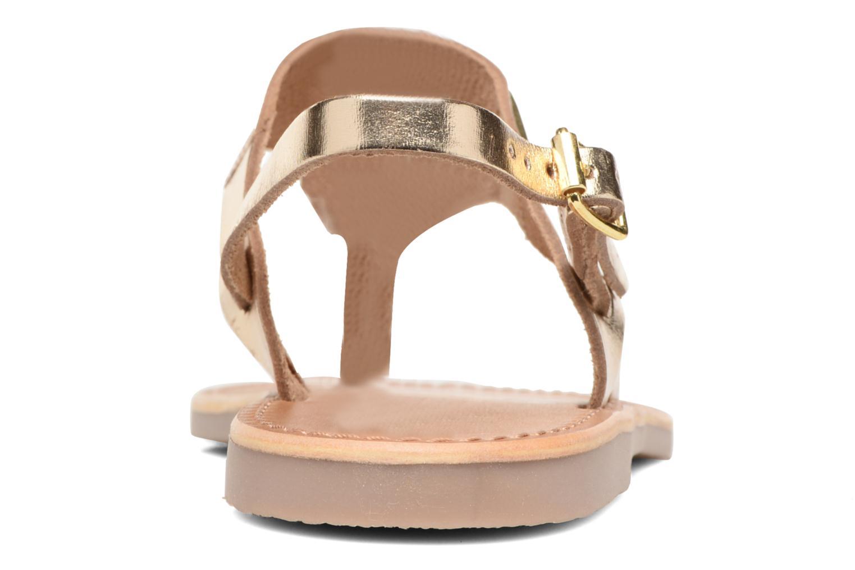 Sandales et nu-pieds Les Tropéziennes par M Belarbi Baccara Or et bronze vue droite