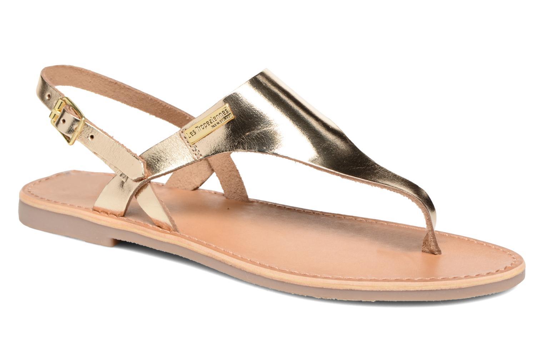Sandales et nu-pieds Les Tropéziennes par M Belarbi Baccara Or et bronze vue détail/paire