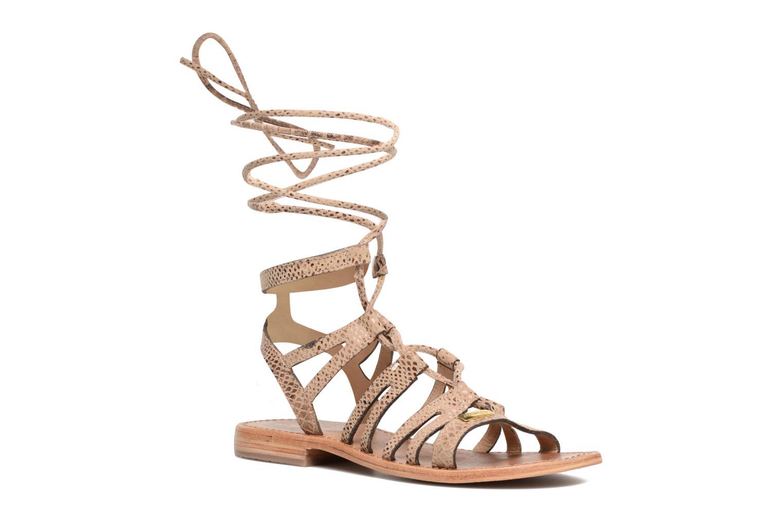 Sandaler Les Tropéziennes par M Belarbi Hercule Beige detaljeret billede af skoene