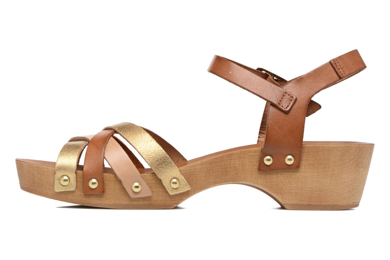 Sandales et nu-pieds Les Tropéziennes par M Belarbi Pluie Marron vue face