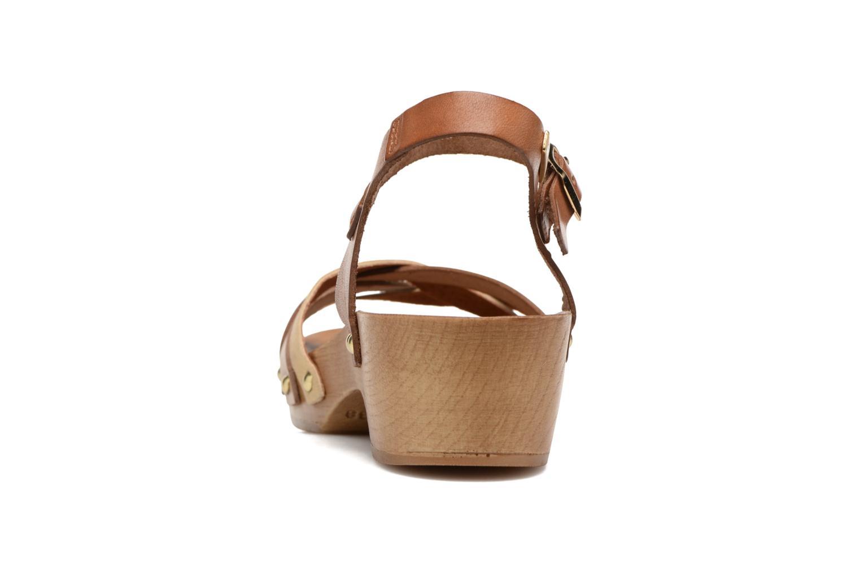 Sandales et nu-pieds Les Tropéziennes par M Belarbi Pluie Marron vue droite