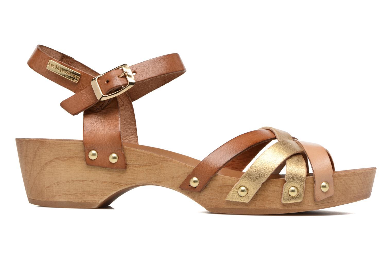 Sandales et nu-pieds Les Tropéziennes par M Belarbi Pluie Marron vue derrière