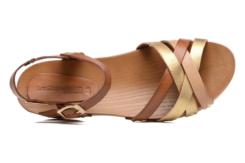 Sandales et nu-pieds Les Tropéziennes par M Belarbi Pluie Marron vue gauche