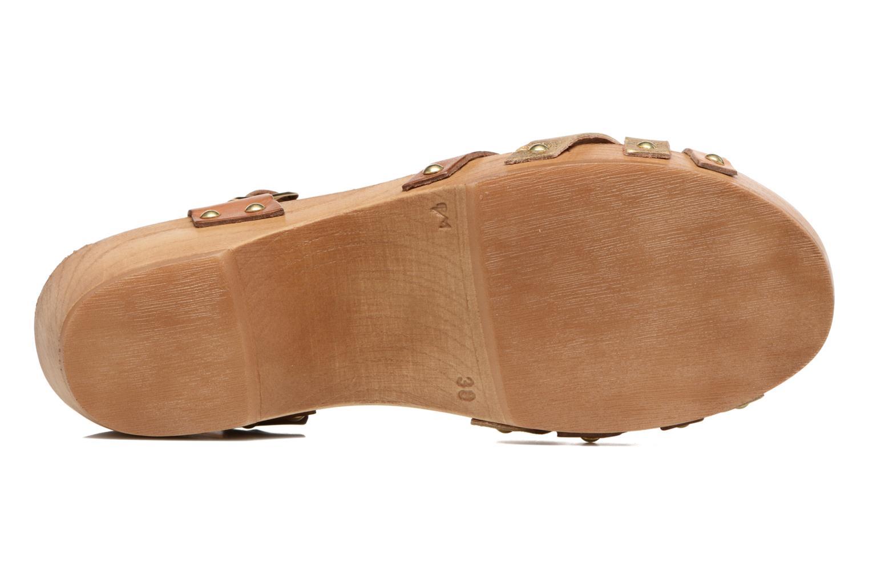Sandales et nu-pieds Les Tropéziennes par M Belarbi Pluie Marron vue haut