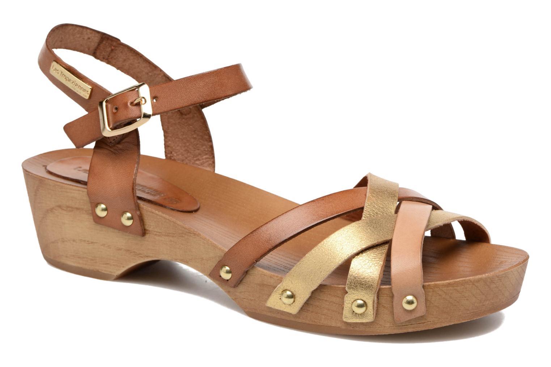 Sandales et nu-pieds Les Tropéziennes par M Belarbi Pluie Marron vue détail/paire