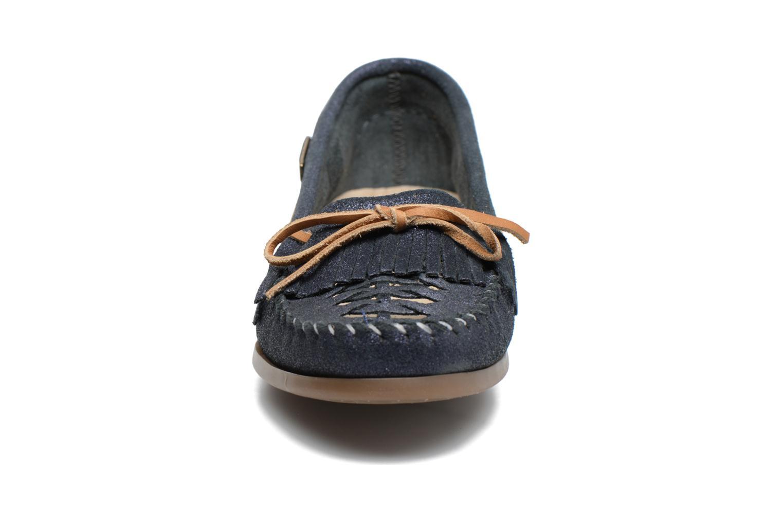 Mocassins Les Tropéziennes par M Belarbi Paraguay Bleu vue portées chaussures