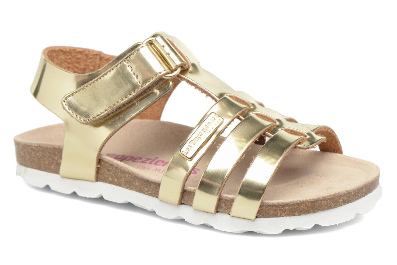 Sandales et nu-pieds Les Tropéziennes par M Belarbi Polina Or et bronze vue détail/paire