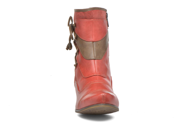 Bottines et boots Mustang shoes Anita Rouge vue portées chaussures