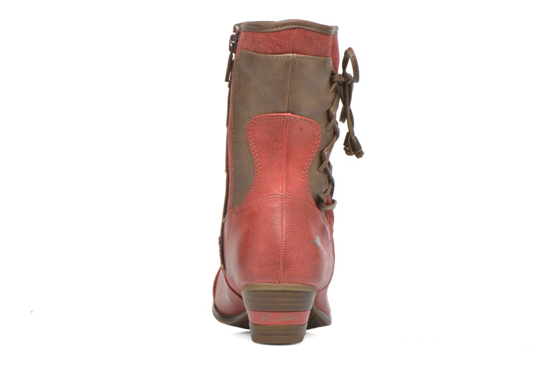 Bottines et boots Mustang shoes Anita Rouge vue droite