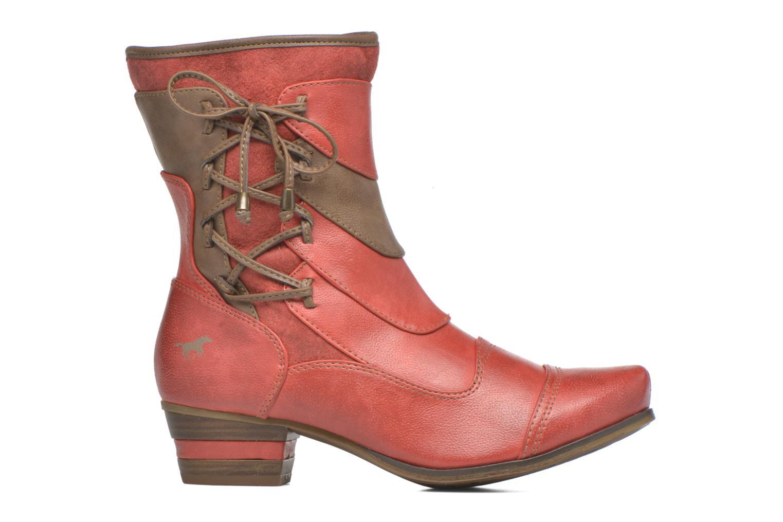 Bottines et boots Mustang shoes Anita Rouge vue derrière