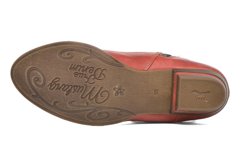 Bottines et boots Mustang shoes Anita Rouge vue haut