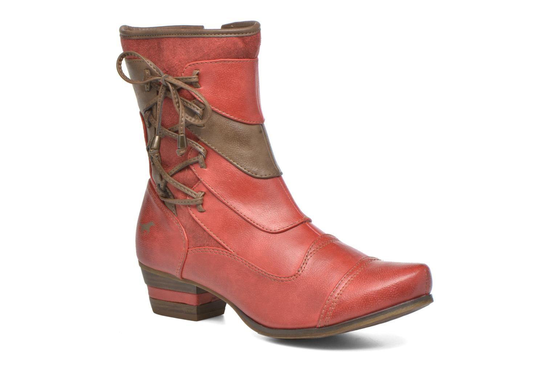 Bottines et boots Mustang shoes Anita Rouge vue détail/paire