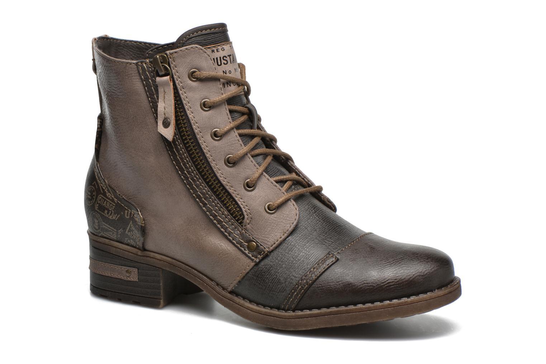 Mustang shoes Axelle (Gris) - Bottines et boots chez Sarenza (286857)
