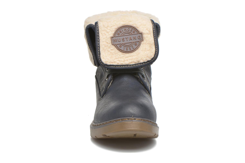 Bottines et boots Mustang shoes Betsy Bleu vue portées chaussures