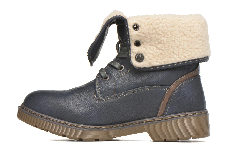Bottines et boots Mustang shoes Betsy Bleu vue face
