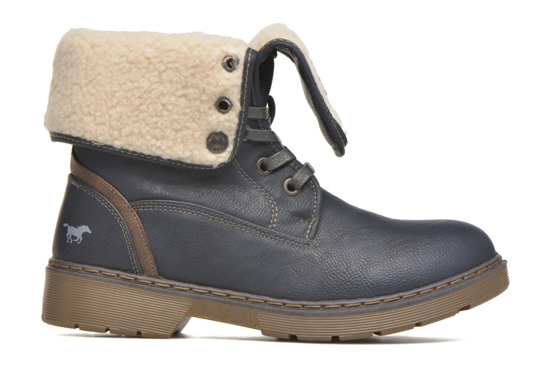 Bottines et boots Mustang shoes Betsy Bleu vue derrière