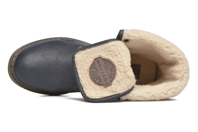Bottines et boots Mustang shoes Betsy Bleu vue gauche