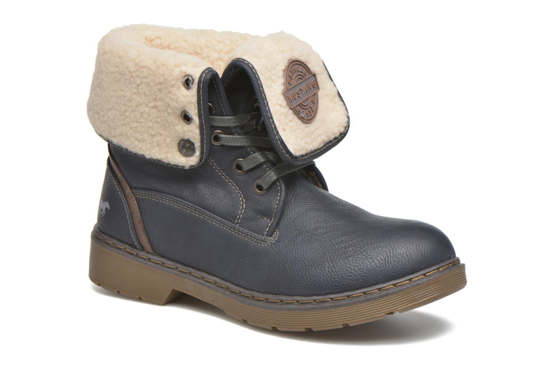 Bottines et boots Mustang shoes Betsy Bleu vue détail/paire