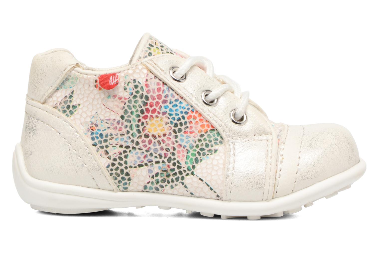 Chaussures à lacets NA! Acelle Blanc vue derrière