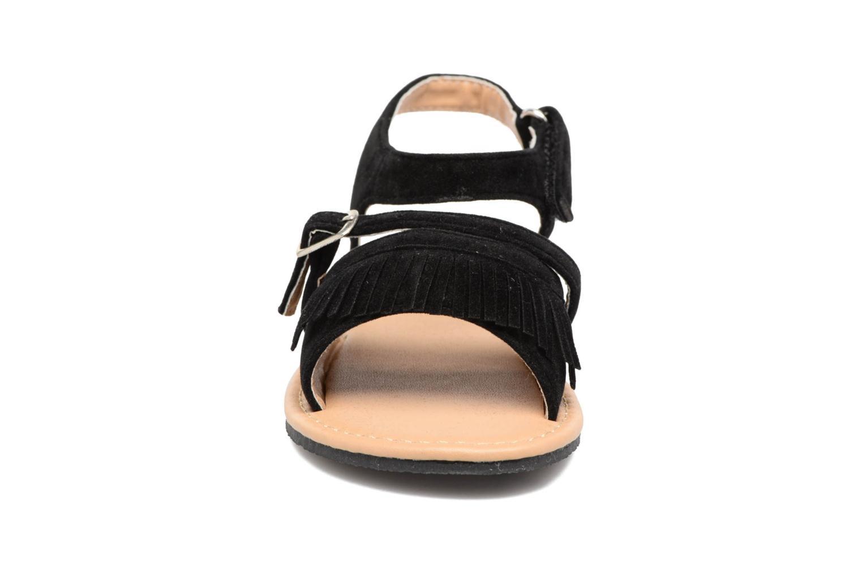 Sandales et nu-pieds NA! Rubis Noir vue portées chaussures