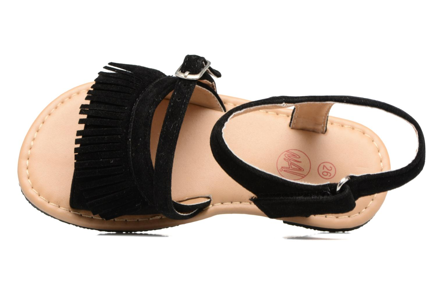 Sandals NA! Rubis Black view from the left