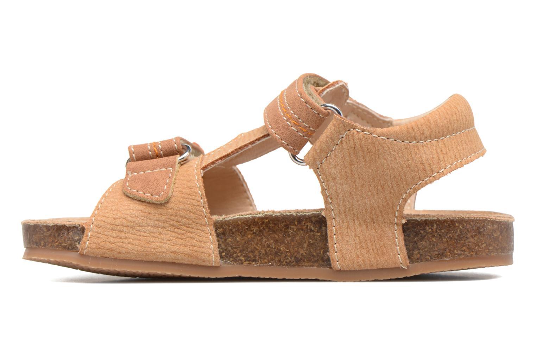 Sandales et nu-pieds NA! Anis Marron vue face