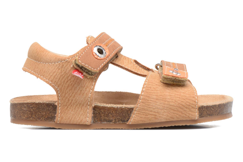 Sandales et nu-pieds NA! Anis Marron vue derrière