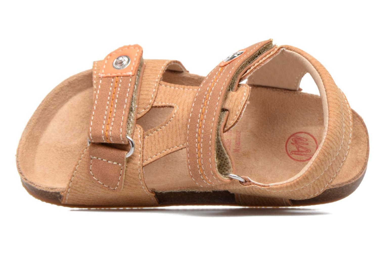 Sandales et nu-pieds NA! Anis Marron vue gauche