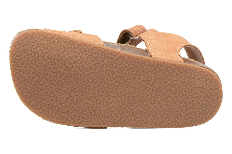 Sandales et nu-pieds NA! Anis Marron vue haut