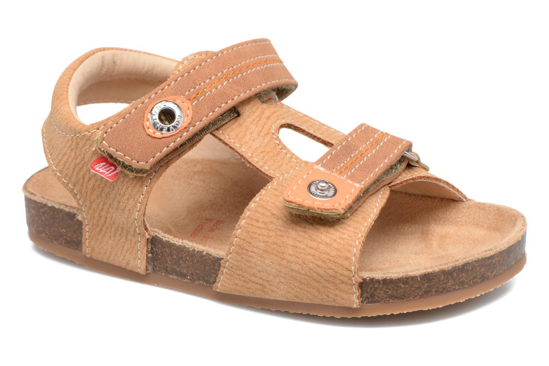 Sandales et nu-pieds NA! Anis Marron vue détail/paire