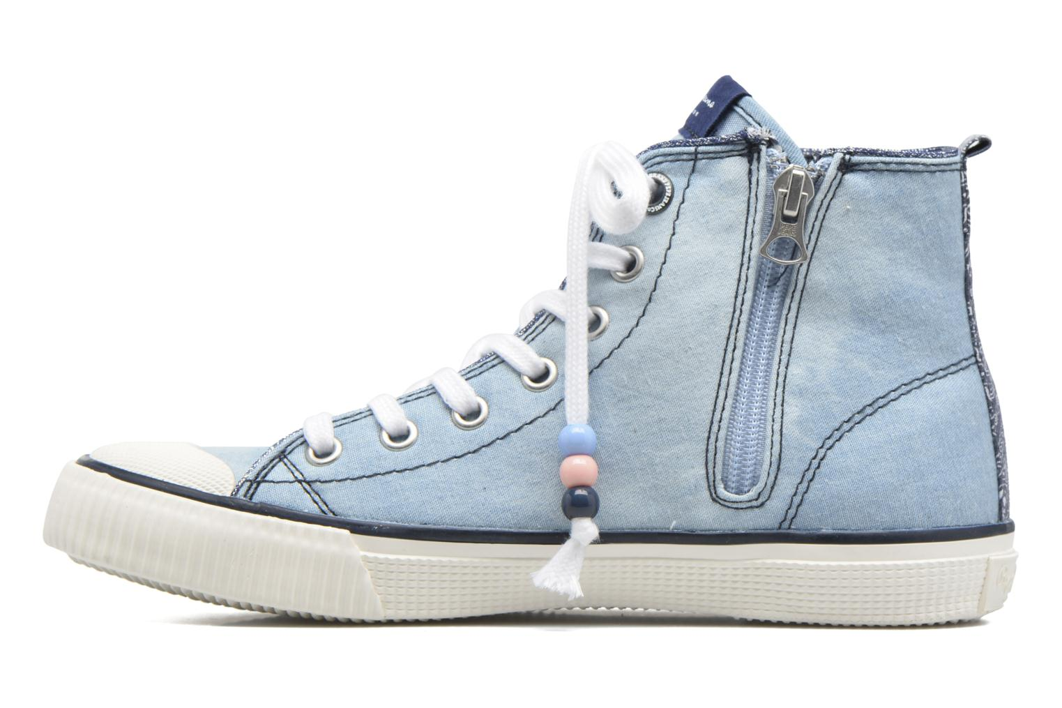 Baskets Pepe jeans Industry Embroidery Bleu vue face