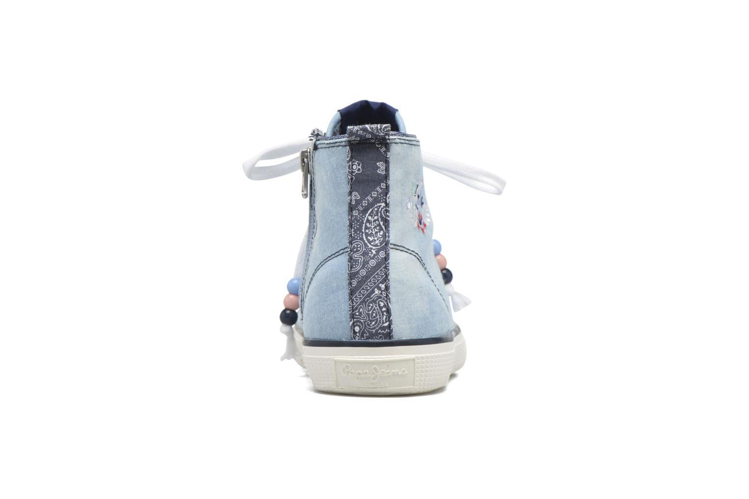 Baskets Pepe jeans Industry Embroidery Bleu vue droite