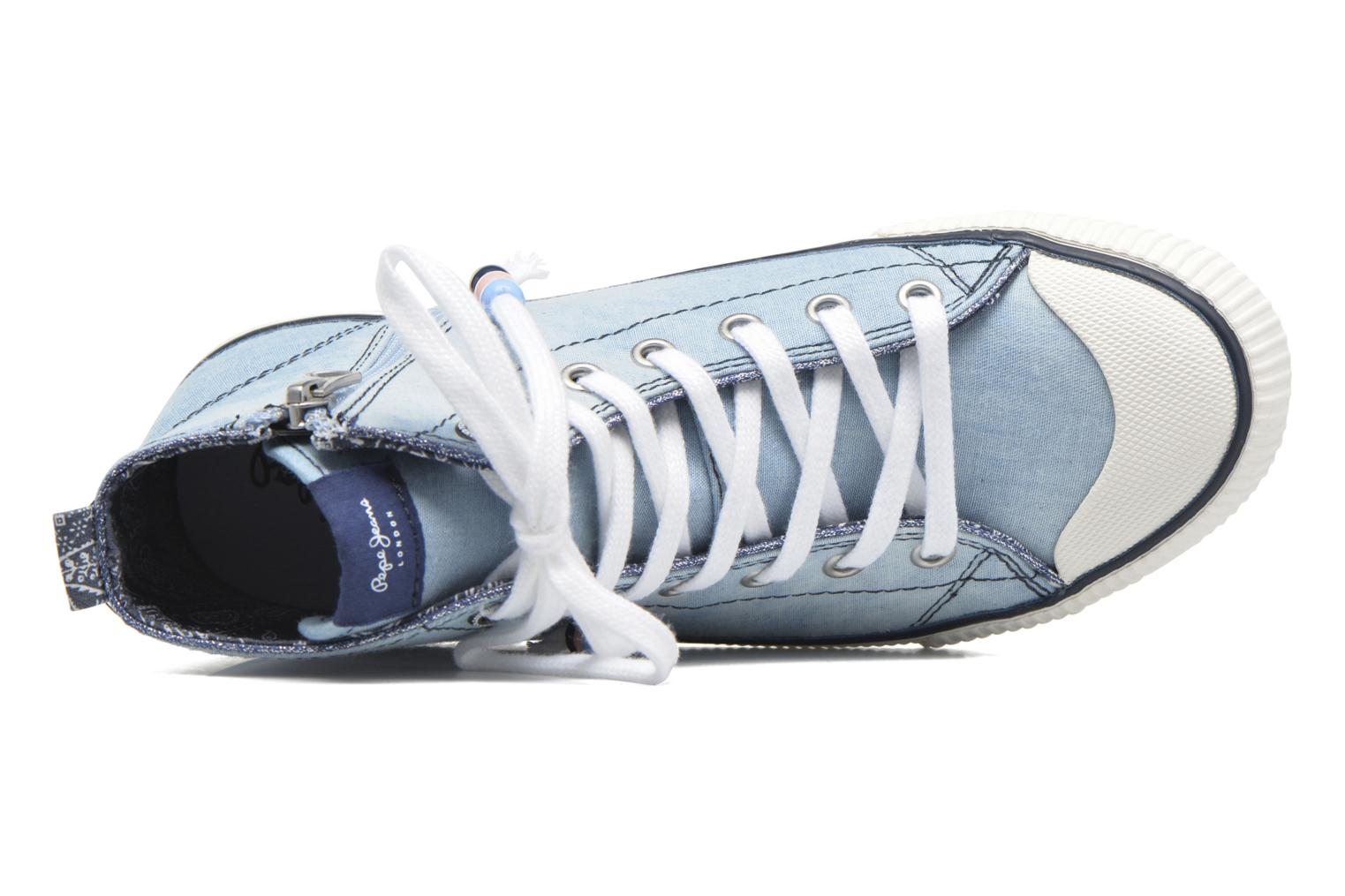 Baskets Pepe jeans Industry Embroidery Bleu vue gauche