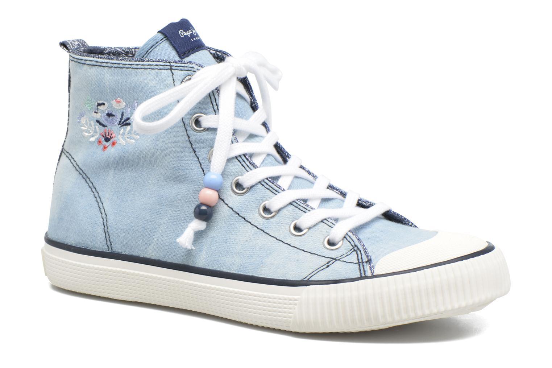 Baskets Pepe jeans Industry Embroidery Bleu vue détail/paire