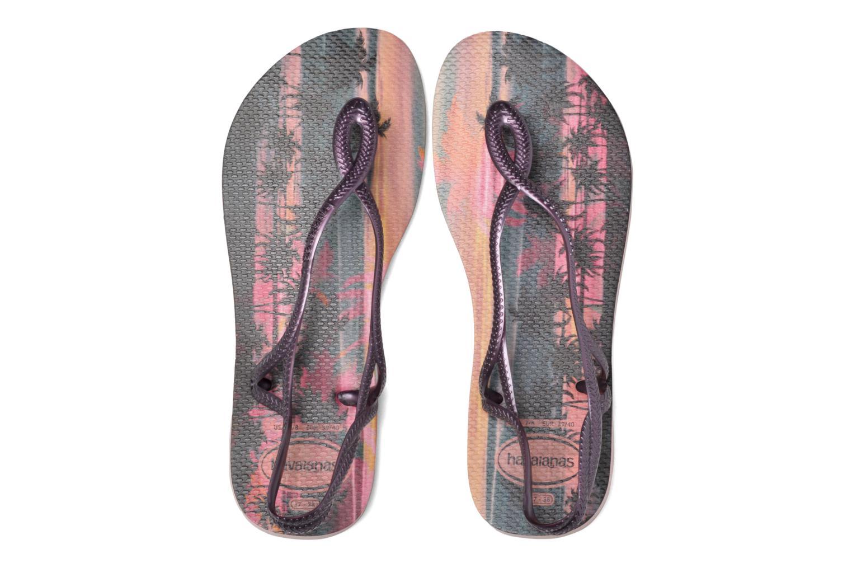 Sandales et nu-pieds Havaianas Luna Print Rose vue 3/4