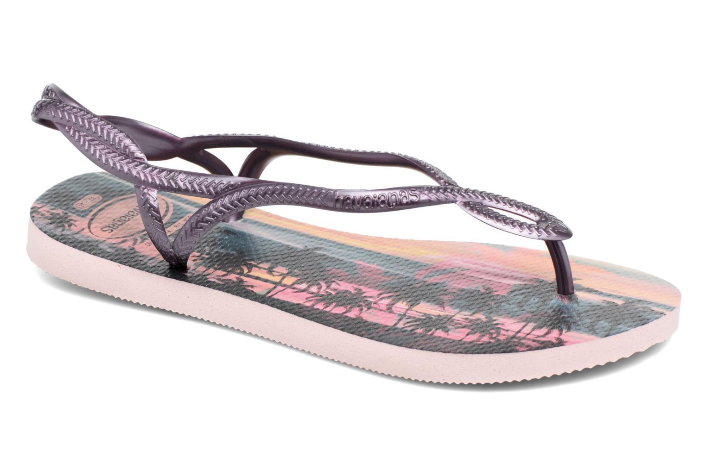 Sandales et nu-pieds Havaianas Luna Print Rose vue détail/paire