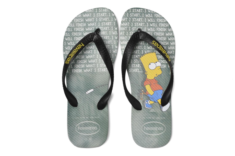 Tongs Havaianas Simpsons Gris vue 3/4