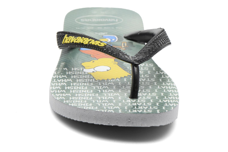 Tongs Havaianas Simpsons Gris vue portées chaussures