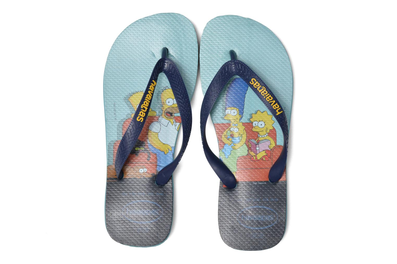 Tongs Havaianas Simpsons Bleu vue 3/4