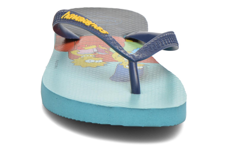 Tongs Havaianas Simpsons Bleu vue portées chaussures