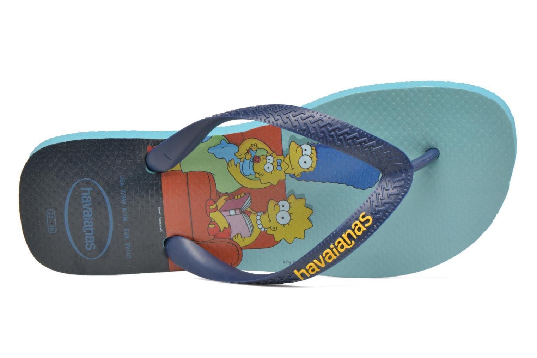 Tongs Havaianas Simpsons Bleu vue gauche