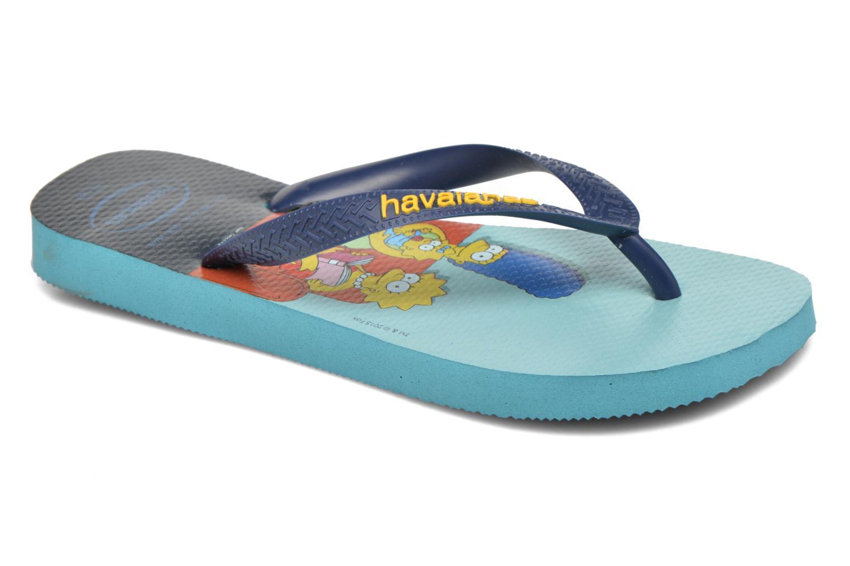 Tongs Havaianas Simpsons Bleu vue détail/paire