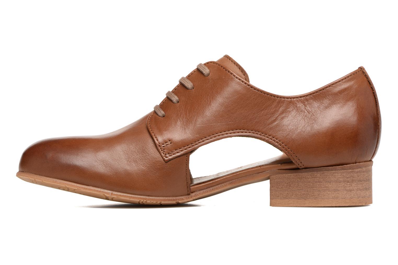 Chaussures à lacets Georgia Rose Celange Marron vue face