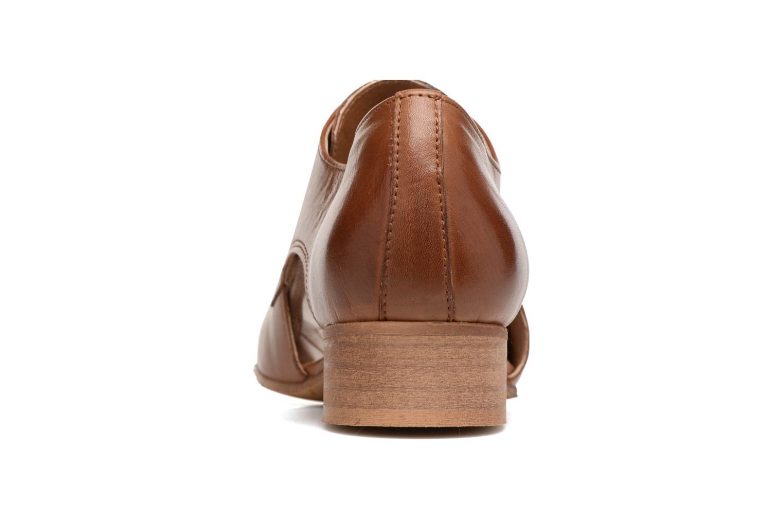 Chaussures à lacets Georgia Rose Celange Marron vue droite